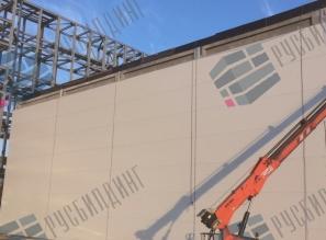 Подрядные работы на площадке завода СИБУР, г.Тобольск, монтаж сэндвич-панелей