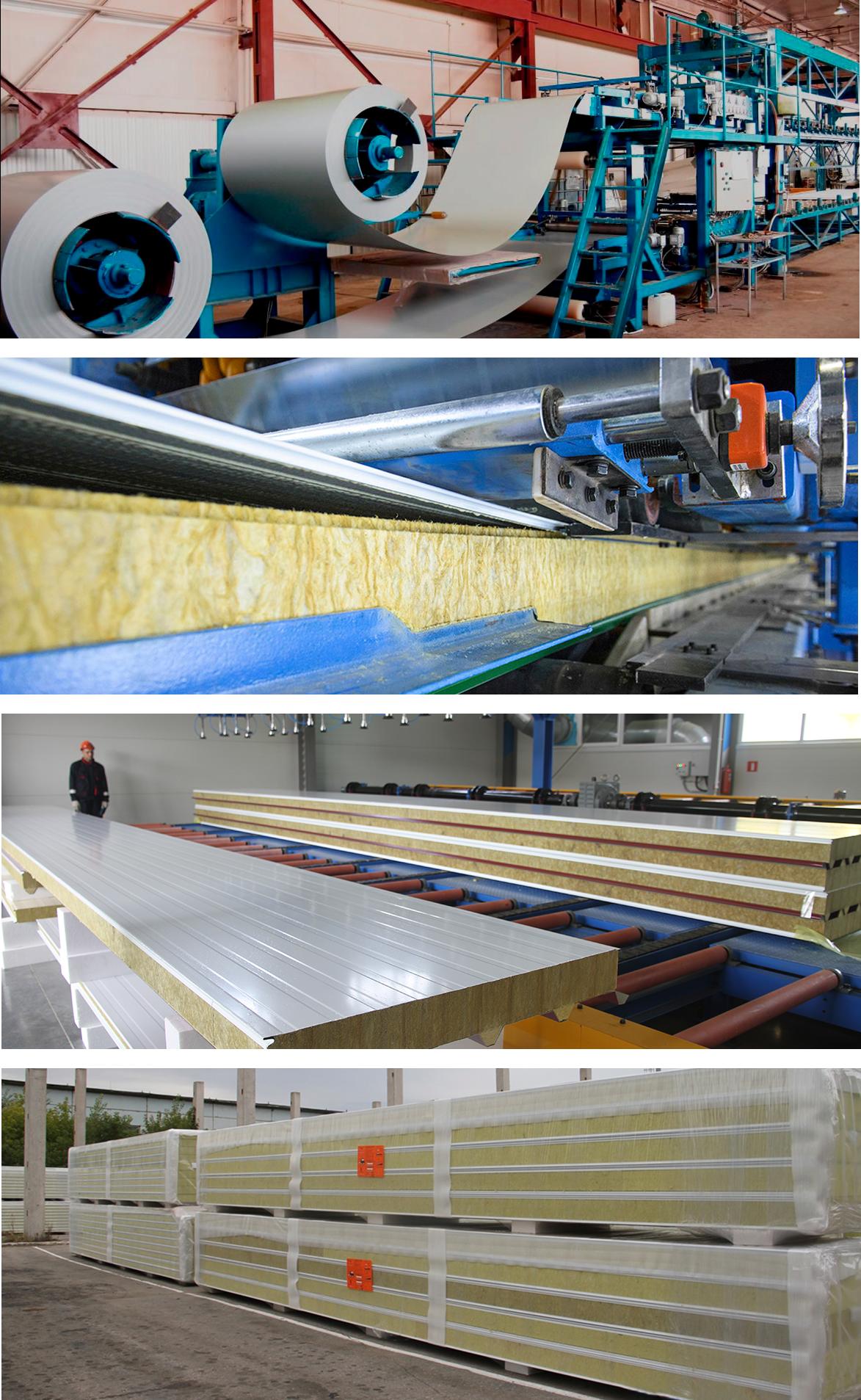 Трехслойные сэндвич-панели - производство