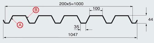 Технические характеристики профлиста С-44х1000