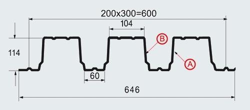 Техничесикие характеристики профлиста Н-114х600-А.В